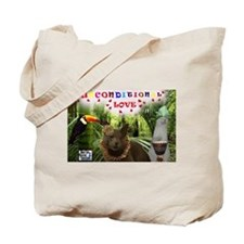 Poppy-in the jungle-Unconditional Love Tote Bag