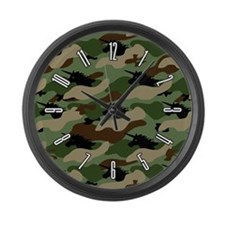Unicorn Camouflauge Large Wall Clock