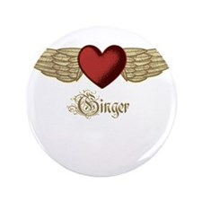 "Ginger the Angel 3.5"" Button"