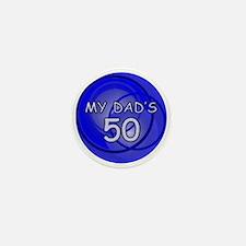 Cute Unique 50th birthday Mini Button (10 pack)