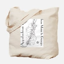 Appalachian Trail Map Tote Bag
