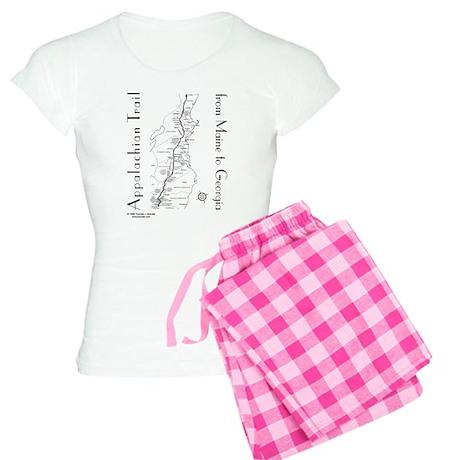 Appalachian Trail Map Women's Light Pajamas