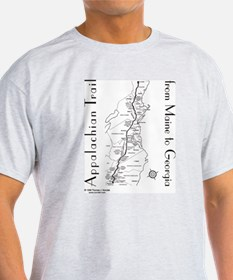 Appalachian Trail Map T-Shirt