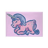 Pink unicorn Magnets