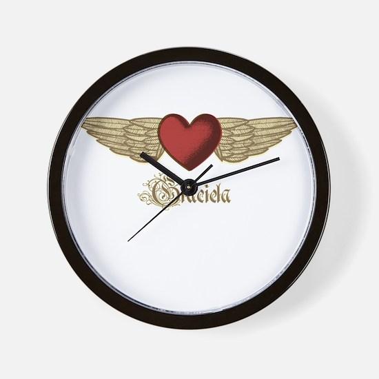 Graciela the Angel Wall Clock
