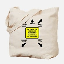 Reassemble Bungee Jumping Funny T-Shirt Tote Bag