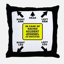 Reassemble Racing Funny T-Shirt Throw Pillow