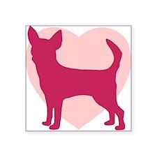 Chihuahua Valentine's Day Rectangle Sticker