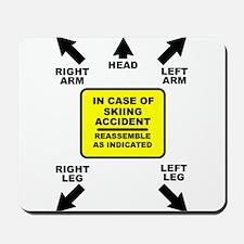 Reassemble Skiing Ski Funny T-Shirt Mousepad