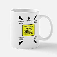 Reassemble Skiing Ski Funny T-Shirt Mug