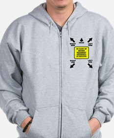 Reassemble Skiing Ski Funny T-Shirt Zip Hoodie