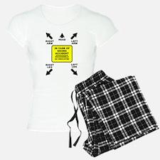 Reassemble Skiing Ski Funny T-Shirt Pajamas
