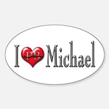 I heart Michael Oval Decal