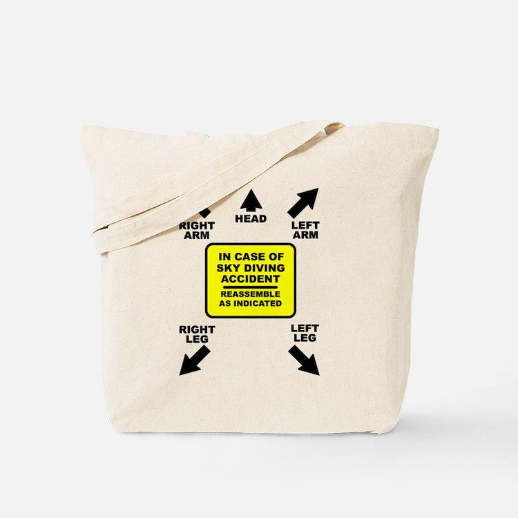Reassemble Sky Diving Parachute Funny T-Shirt Tote