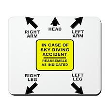 Reassemble Sky Diving Parachute Funny T-Shirt Mous