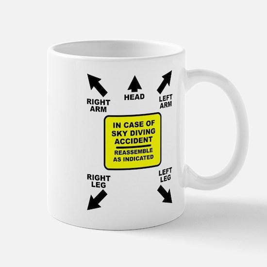 Reassemble Sky Diving Parachute Funny T-Shirt Mug