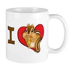 Cute I heart chipmunks Mug