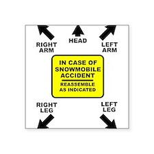 Reassemble Snowmobile Funny Sticker