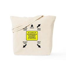Reassemble Snowmobile Funny Tote Bag
