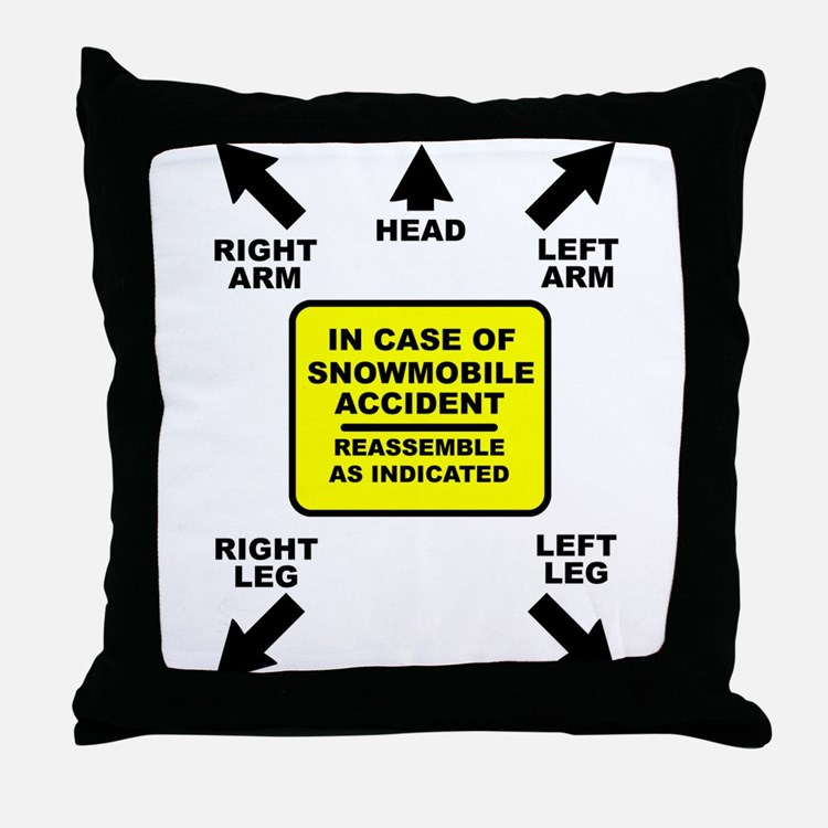 Reassemble Snowmobile Funny Throw Pillow