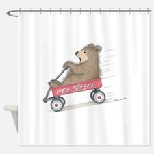 Red Roller Racing Shower Curtain