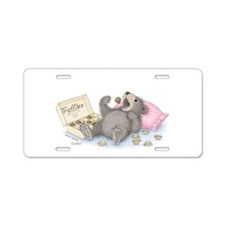 Beary Full of Truffles Aluminum License Plate