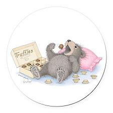 Beary Full of Truffles Round Car Magnet