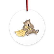 Beary Big Yawn Ornament (Round)