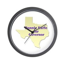Ronnie Earle For Governor! Wall Clock