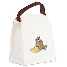 Beary Big Yawn Canvas Lunch Bag
