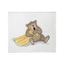 Beary Big Yawn Throw Blanket