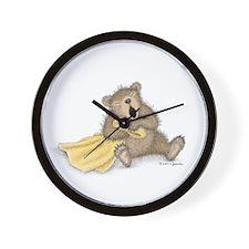 Beary Big Yawn Wall Clock