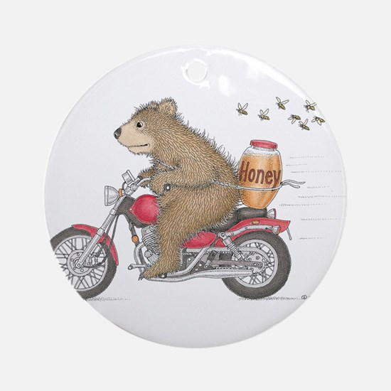 Honey on the Run Ornament (Round)