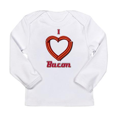 I Heart Bacon Long Sleeve Infant T-Shirt