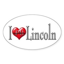 I heart Lincoln Oval Decal