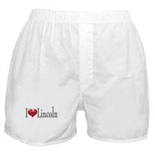 I heart Lincoln Boxer Shorts