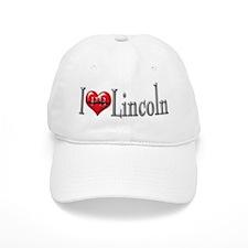 I heart Lincoln Baseball Cap
