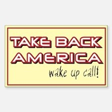 Take Back America Rectangle Decal