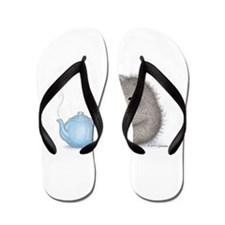 All Warm and Furry Flip Flops