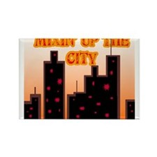 City Mix Rectangle Magnet