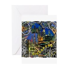 singapore art illustration Greeting Card