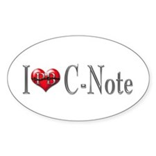 I heart C-Note Oval Decal