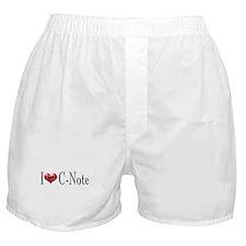 I heart C-Note Boxer Shorts
