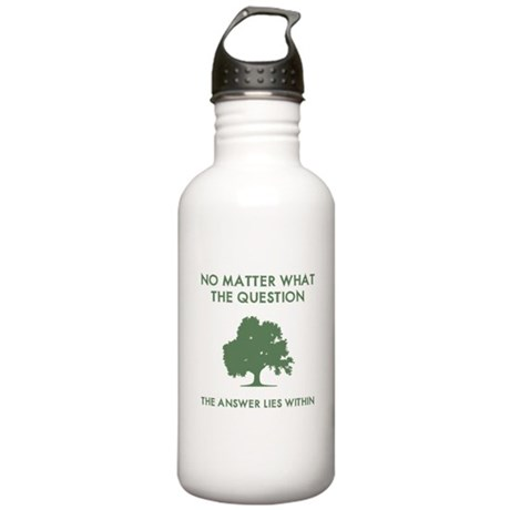 The Answer Lies Within Stainless Water Bottle 1.0L