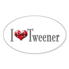 I heart Tweener Oval Decal