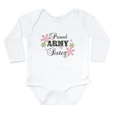 Army Sister [fl camo] Long Sleeve Infant Bodysuit