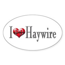 I heart Haywire Oval Decal