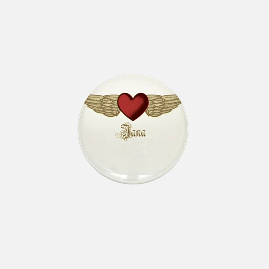Jana the Angel Mini Button