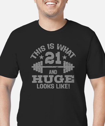 Funny 21 Year Old Men's Fitted T-Shirt (dark)