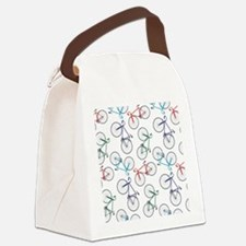 Bicycles Pattern - Canvas Lunch Bag